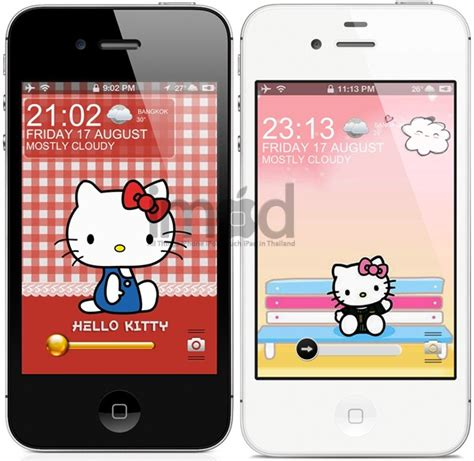 theme hello kitty cydia ios 7 hello kitty collection hd ธ มล อคหน าจอ iphone 4 4s