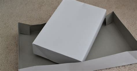 How To Make A Box Lid Out Of Paper - how to make a whole box out of a shirt box lid or bottom