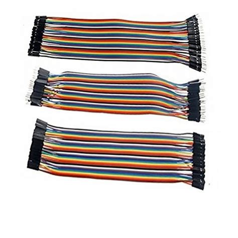 Jumper Cable Dupont 10cm Isi 20 Murah 40 pcs 20cm m2m m2f f2f jumper wire dupont cable 4 arduino buy in pakistan