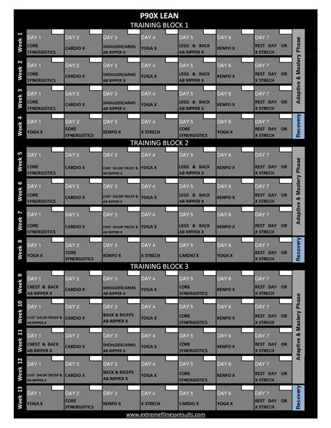Calendario P 90x 1000 Ideas About P90x Ab Ripper On P90x