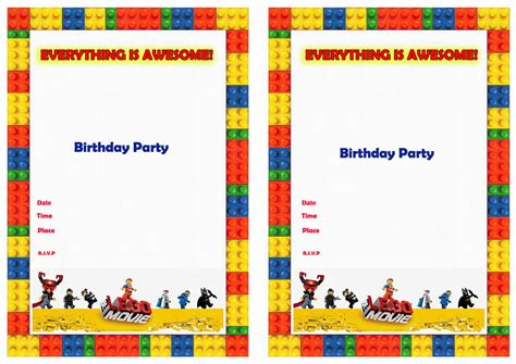 printable lego invitation cards lego invitations printable new calendar template site