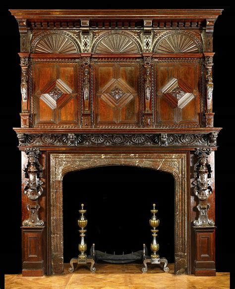 Antique Wood Fireplace Mantel by Antique Carved Wood Fireplace Mantle And