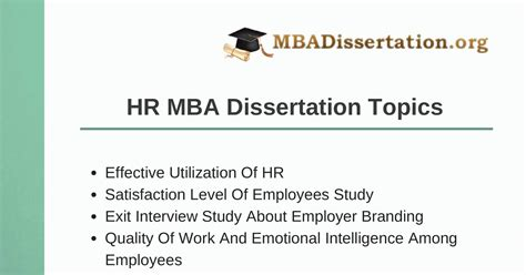 human resource dissertation topics project dissertation topics 28 images 28 mba