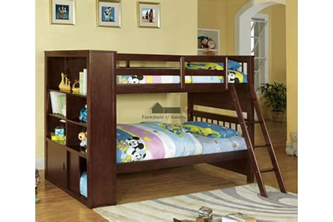 bunk bed with bookcase bunk beds loft beds dakota ridge twin twin bookcase