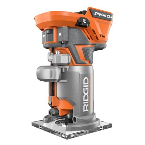 ridgid 18 volt brushless compact router r86044b the home