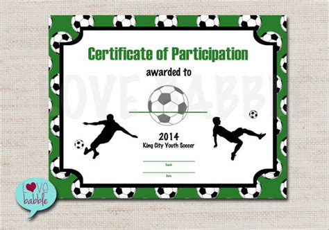 soccer certificate templates for word professional and high