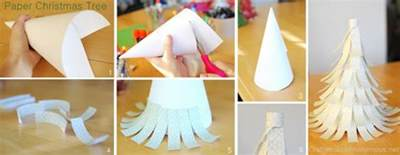 how to make tree ornaments out of paper