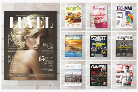 magazine cover template psd 20 premium magazine templates for professionals