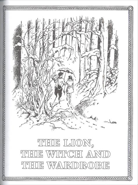coloring pages lion witch and the wardrobe chronicles of narnia official coloring book 065631