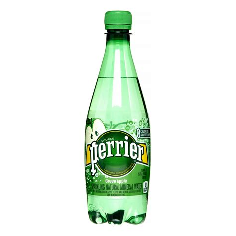 perrier sparkling natural mineral water green apple 16 9 fl oz 24 count pack of 24 jet com