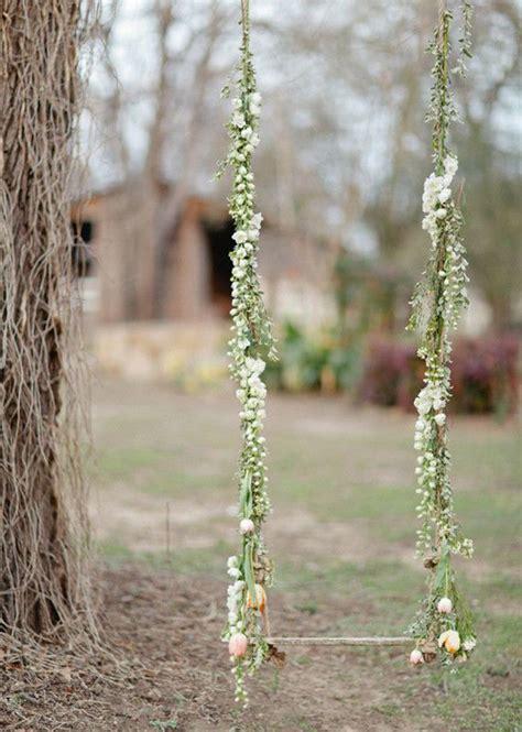 romantic outdoor swing utterly romantic garden wedding inspiration