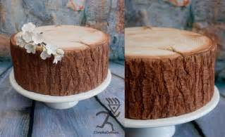 kuchen aus holz kiwi cakes woodgrain tree trunk tutorials from ciccio cakes