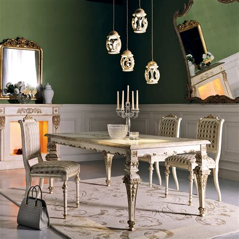 italian designer louis xiv dining table set