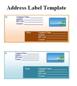 Business Address Label Template Free Word S Templates Business Address Labels Templates