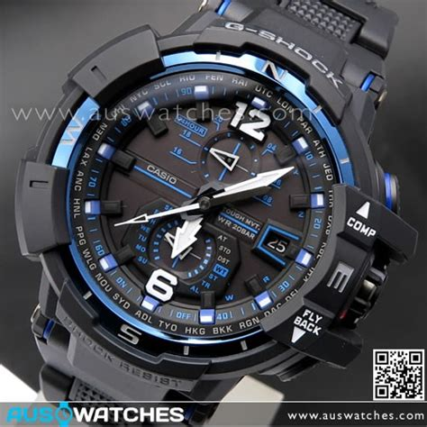 G Shock Ga 1000b Blue Black buy casio g shock gravitymaster solar wave multiband 6