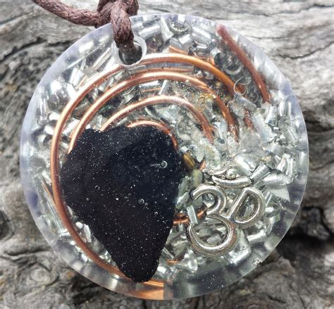 Infinity Pendant Orgonite orgonite pendant shungite om living