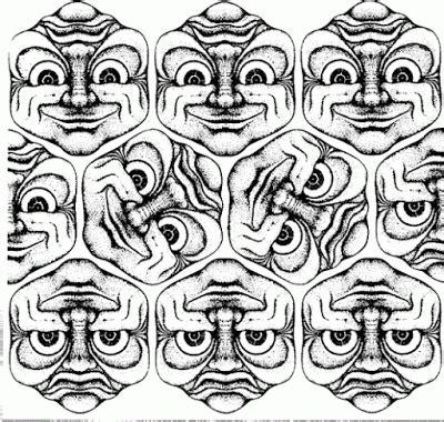 ilusiones opticas reversibles teselacion reversible ilusiones opticas