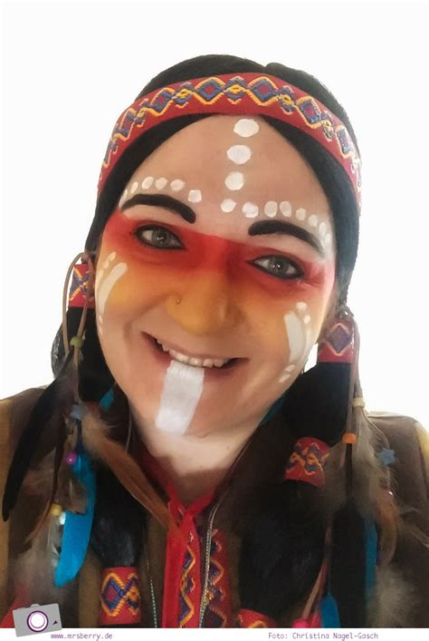 Karneval Schminken Indianer by Karnevals Diy Indianer Kost 252 M Basteln Mrsberry Familien