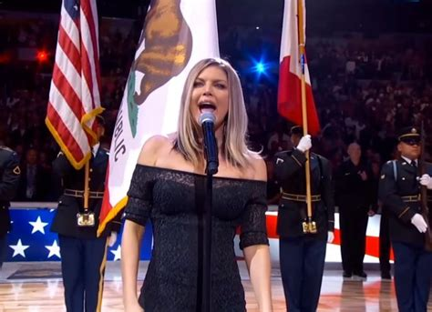 Preforms At The Nba All by Fergie Slammed For National Anthem Performance At Nba
