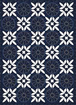 free pieced appliqued wandering foot quilt pattern