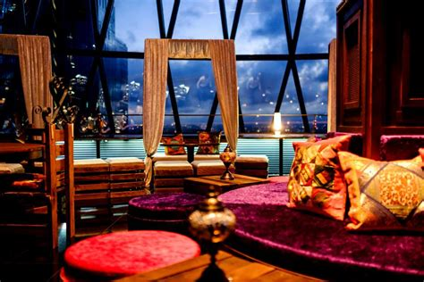 bar at the top of the gherkin moroccan sky riad searcys bar at the gherkin london designmynight