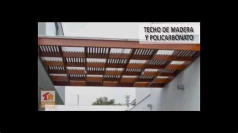cocheras techadas con policarbonato instalacion de techos con policarbonato lima peru youtube