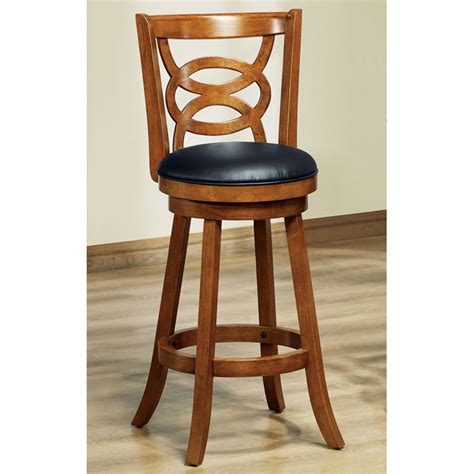 dark oak bar stools loyalty swivel bar stool dark oak finish black seat