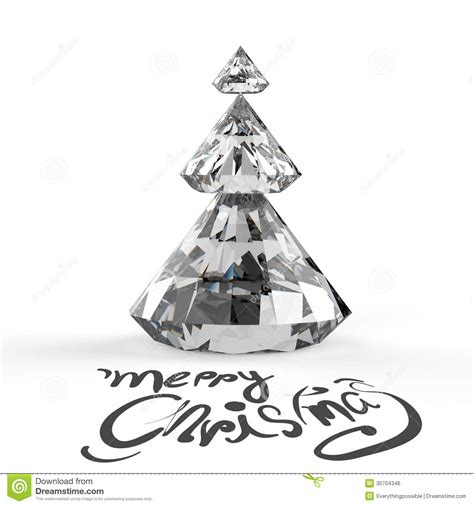 christmas card with diamonds christmas tree stock photo