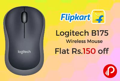 Logitech B 175 Wireless Mouse logitech b175 wireless mouse flat rs 150 flipkart