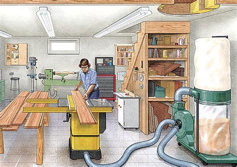 workshop layout guide 15 tips for basement workshops finewoodworking