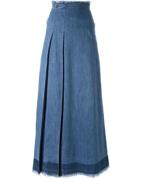 Rok Denim Maxi Skirt Naura Skirt see by chlo 233 denim maxi skirt in blue save 48 lyst