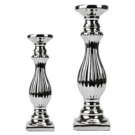 stumpen kerzenhalter silber keramik kerzenleuchter kerzenst 228 nder kerzenhalter