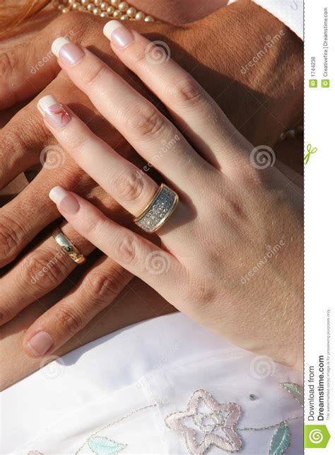 wedding couple hands  rings royalty  stock