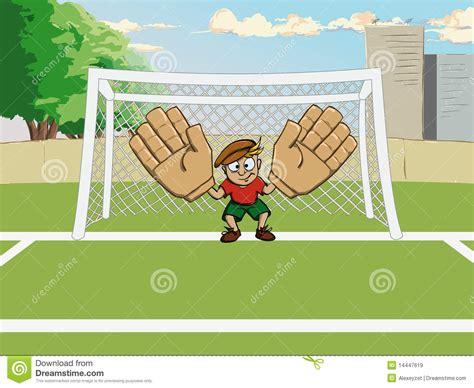 giochi gratis di calcio portiere portiere di gioco calcio al cancello illustrazione