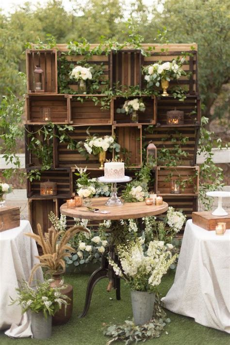 60 rustic country wooden crates wedding ideas outdoor