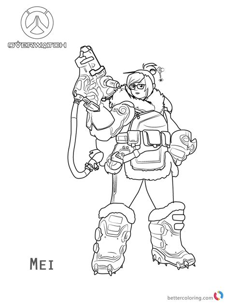 libro overwatch coloring book mei from overwatch coloring pages free printable coloring pages