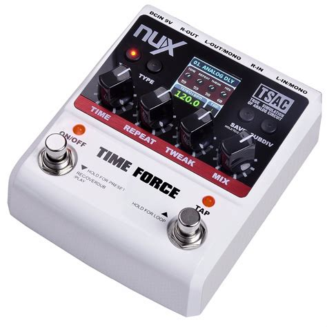 nux time delay effect pedal efek gitar listrik black white jakartanotebook