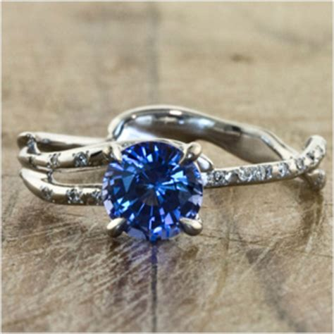 unique engagement rings without diamonds wedding