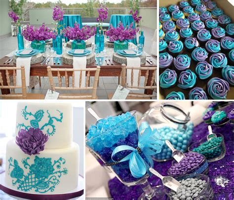 Teal And Purple Wedding Flowers   Party Themes Inspiration