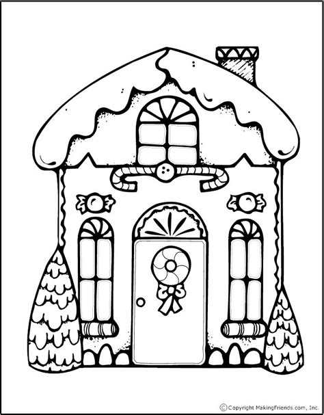 printable coloring pages gingerbread house printable gingerbread treat bag