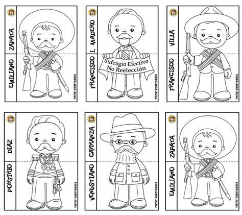 imagenes para colorear de la revolucion mexicana para niños estupendos dise 241 os de los personajes de la revoluci 243 n mexicana