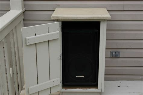 outdoor stereo cabinet ideas outdoor deck speaker enclosures outdoor diy