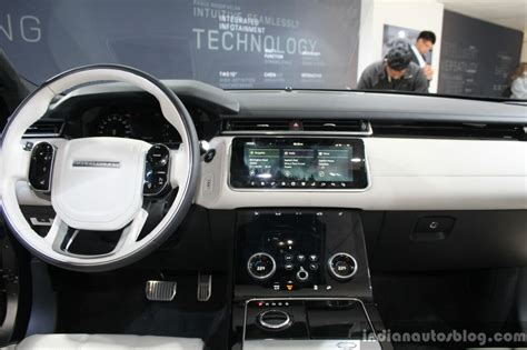 range rover velar dashboard range rover velar interior at the geneva motor show