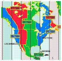 North American Time Zone Map by North American Time Zones Cities