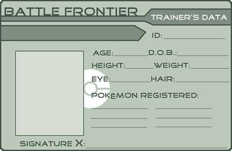trainer card template blank blank frontier card by griffsgirl