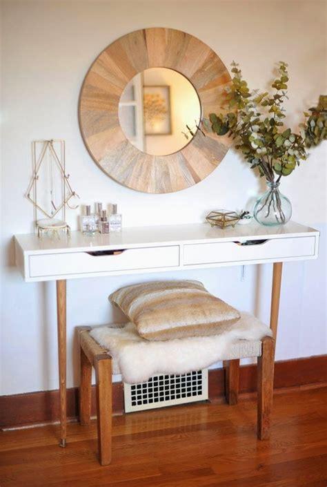 Thin Vanity Table Diy Modern And Minimal Makeup Vanity Table Ikea Hack Diy Furniture Vanities
