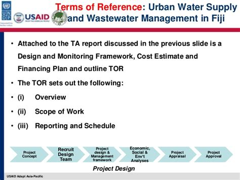 urban design brief terms of reference managing design phase tasks for climate change adaptation