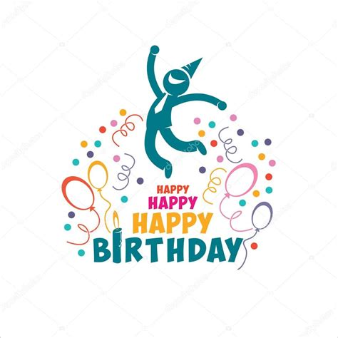 imagenes de happy birthday free feliz cumplea 241 os ilustraci 243 n de vector gente alegre