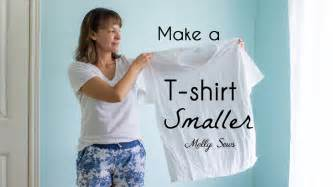 How To Make Tshirt how to make a t shirt smaller