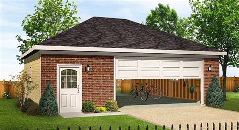 House Plans With Drive Through Garage by Hip Roofed Drive Thru Garage 22056sl Architectural